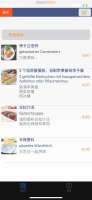 Ersteinrichtung GastroVisit - Speise- und Getränkekarten in mehr als 60 Sprachen